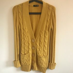 Mustard Yellow Cardigan Sweater